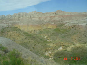 Yellow Mounds of the Badlands National Park