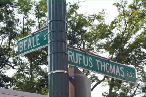 Beale St. - Rufus Thomas Blvd Signs