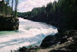 Yellowstone River Before the Falls
