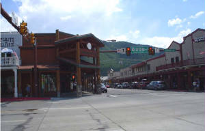 Intersection in Downtown Jackson, Wyoming